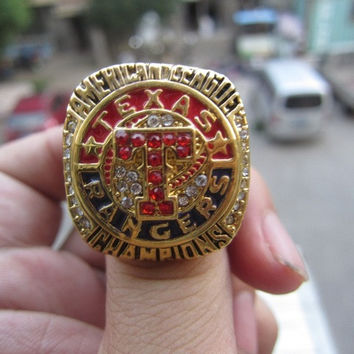 free shipping 2011 Texas Rangers championship ring for gift sport ring BC2840