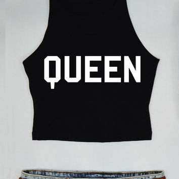 Queen Cropped Top