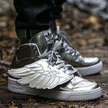 DCCKIG3 adidas Jeremy Scott wings 3.0 Sliver Men Women Sneaker
