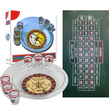 The Spins Roulette Drinking Game and Layout by TG