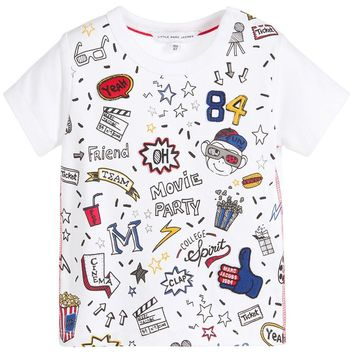 Little Marc Jacobs Baby Boys Colorful Movie Print T-Shirt