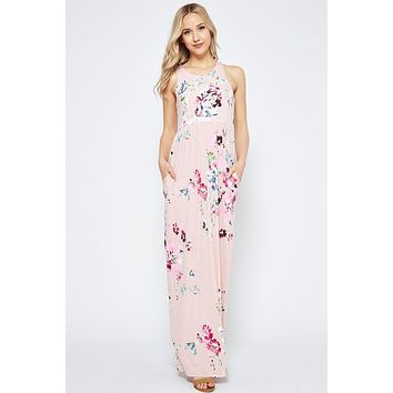 Garden Party Maxi Dress - Pink Floral