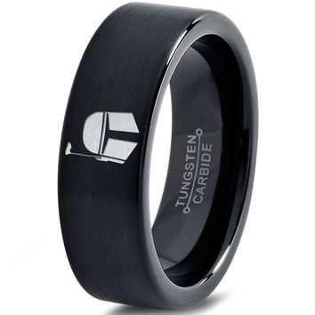 Boba Fett Inspired Tungsten Wedding Band Ring