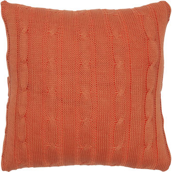 "Sweater Fabric Orange Pillow Cover (18"" x 18"")"