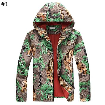 GUCCI 2018 new personality tiger print high-end hooded jacket F-A00FS-GJ #1