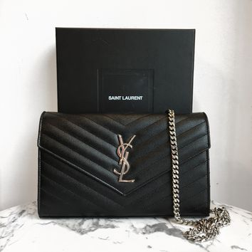 Saint Laurent 'Monogram Chain' Wallet