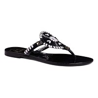 Georgica Jelly Sandal in Black and White by Jack Rogers