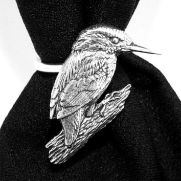 Kingfisher Bird Scarf Ring English Pewter Handmade in Great Britain (ab) | eBay