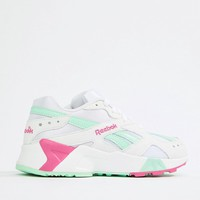 Reebok Exclusive To ASOS Aztrek Trainers In Green And Pink at asos.com