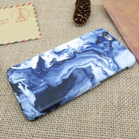 Tie-dyed Blue Marble Stone iPhone X 8 7 plus & iPhone se 5s & iPhone6 6s Plus Case Cover + Gift Box