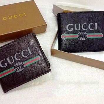 DCCK Gucci Men Leather Purse Wallet1