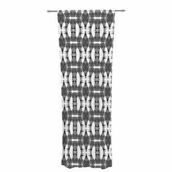"Laura Nicholson ""Twig Bundles"" Black White Abstract Nature Illustration Digital Decorative Sheer Curtain"