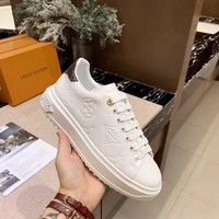 "LV Louis Vuitton Trending Women Black Brown white ""Monogram Empriente"" Leather low-top boots Casual Sneaker sport shoes best quality Winter Autumn"
