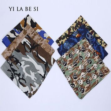ESBU3C Free Shipping Camouflage Print hip-hop bandanas for Male female men women head scarf Scarves multi colour