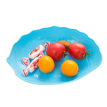 Creative Leaf Shaped Candy Dish Fruit Plate Plastic Tray home kitchen Dried Fruit Snack Tray 17.7*12.7cm