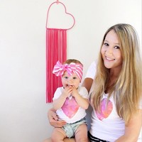 Mommy and Me Heart Tshirts