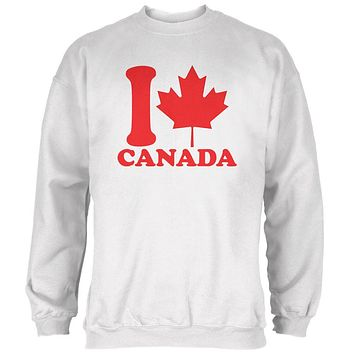 I Love Maple Leaf Heart Canada Mens Sweatshirt