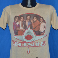 80s The Jacksons 1981 Tour t-shirt Small