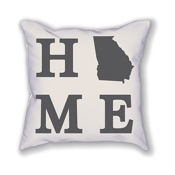 Georgia Home State Pillow