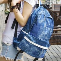 Retro British Style  Fashion Canvas Backpack-blue from styleonline