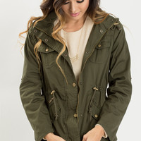 Kristen Olive Lightweight Tencel Jacket