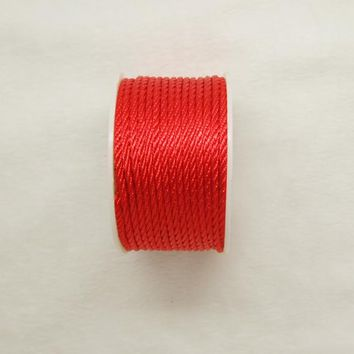 Free shipping 10mtrs/Lot Vintage Shine Red 3mm Nylon Braide Persian Cord Macrame&Craft Yarn