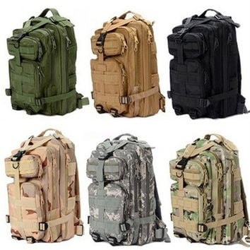 1000D Nylon 8 Colors 30L Waterproof Outdoor Military Rucksacks Tactical Backpack Sports Camping Hiking Trekking Fishing Hunting Bag [10198322823]