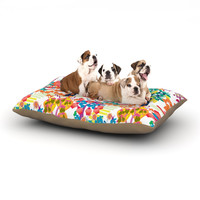 """Agnes Schugardt """"Fruit of the Earth"""" Multicolor Nature Dog Bed"""