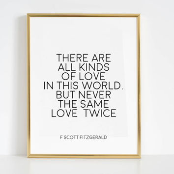F Scott Fitzgerald Quote Book Gifts Love Sign Inspirational Print Motivational Wall Art Gift Idea Book Lover Printable Art Home Decor