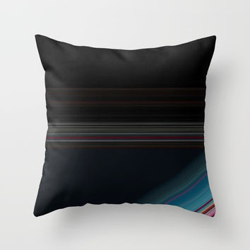 Black and Wine with Bright Blue Accent Throw Pillow by Sheila Wenzel