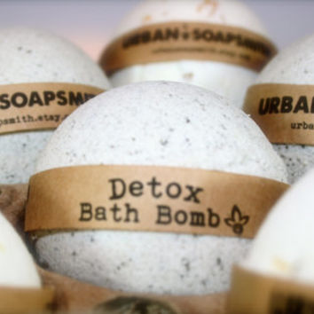 Detox Bath Bomb, Aromatherapy Bath Bomb, Dead Sea Mud, All Natural Bath Bomb Fizzy