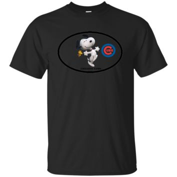Chicago Cubs and Snoopy T-Shirt