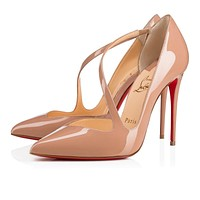 Christian Louboutin Cl Jumping Nude Patent Leather 18s Pumps 1180825pk1a