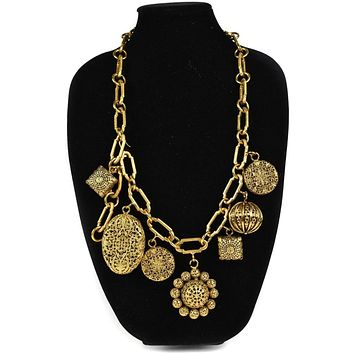 Chanel Necklace Vintage 1980's Couture Runway Gold Necklace