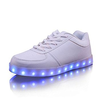 Helen's Pinkmartini 7 Colors LED Light Up Shoes For Gilrs Black Sneaker with led shoelace