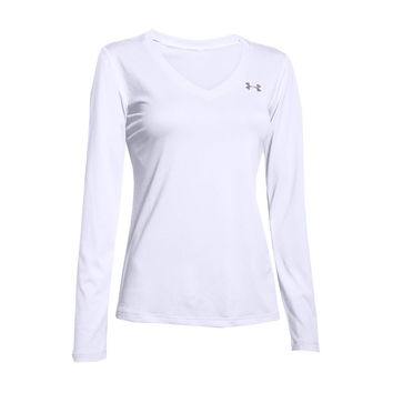 Women's UA Tech™ Long Sleeve Tee Shirt in White by Under Armour