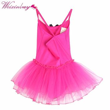 Children Baby Girls Gymnastics Dance Dress Kids Girl Ballet Tutu Dress Leotard Skate Dresses Outfits Hot