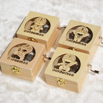 Vintage Wooden Cats Music Creative Gifts Birthday Box [6282844806]