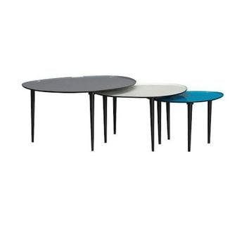Pre-owned CB2 Lucent Nesting Tables - Set of 3