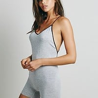 Intimately Womens Heathered Strappy Romper - Heather Grey