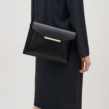Layered leather bag - Black - Bags & Purses - COS US