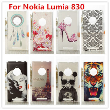 For Nokia Lumia 830 Case Luxury Crystal Diamond 3D Bling Hard Plastic Cover Case For Nokia Lumia 830 Cell Phone Case