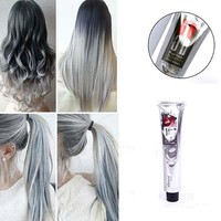 1Pc 100Ml Fashion Light Gray Color Natural Permanent Super Hair Dye Cream09WG