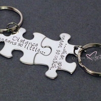 Long Distance Relationship, Couples Keychains, Distance Means So Little , Anniversary Gift