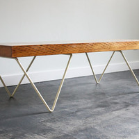 JB bench, coffee table, modern, reclaimed, cream, bench