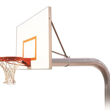 First Team Brute Playground In Ground Outdoor Fixed Height Basketball Hoop 60 inch Steel