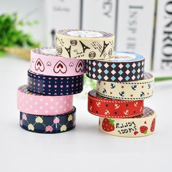 DIY Cute Fabric Cloth Tape Sweet Strawberry Sticker for Decor Scrapbooking Designer Crafts Gift Free shipping 310