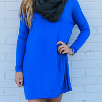 Time Well Wasted Royal Blue Long Sleeve Dress