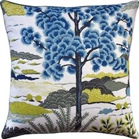 Daintree Turquoise Decorative Pillow