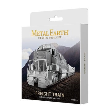 Metal Earth 3D Laser Cut Model Kit Freight Train Boxed Gift Set